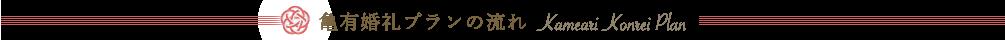 亀有香取神社:亀有婚礼プランの流れ