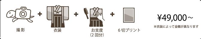成人式フォトプラン:サムライプラン(前撮り+当日お支度)