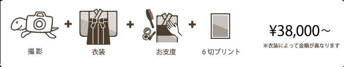 入卒園・入卒業フォトプラン:式当日レンタルパック
