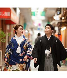 亀有香取神社でのロケーション撮影:和傘