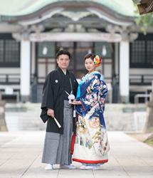 亀有香取神社でのロケーション撮影:神社前で