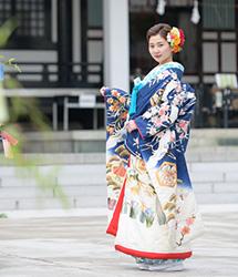亀有香取神社でのロケーション撮影:花嫁全体