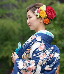 亀有香取神社でのロケーション撮影:花嫁アップ