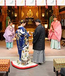 亀有香取神社でのロケーション撮影:結婚式