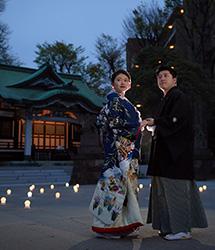 亀有香取神社のナイトウェディング