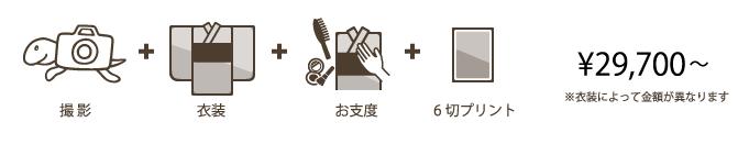 1/2成人・十三参りフォトプラン:スタジオパック